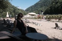 Горный пляж на Роза Хутор
